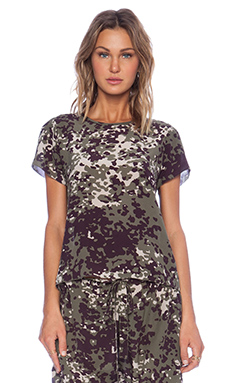 Ulla Johnson Tatiana Blouse in Camo
