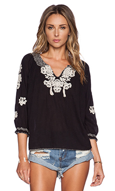 Ulla Johnson Ophelia Blouse in Jet