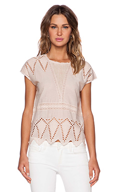 Ulla Johnson Maryse Blouse in Nude