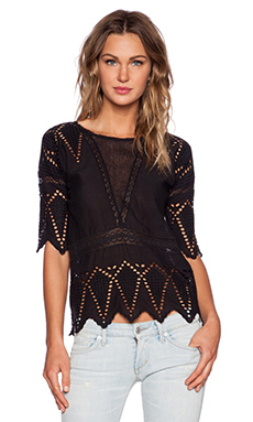 Ulla Johnson Cecilia Blouse in Noir