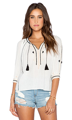 Ulla Johnson Acacia Blouse in Bone