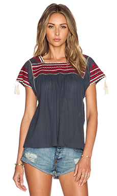 Ulla Johnson Estela Blouse in Ink
