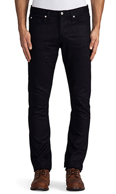 United Stock Dry Goods Slight 14oz Selvage in Navy