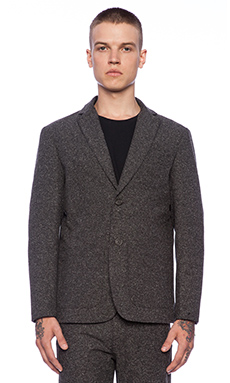 United Stock Dry Goods Blazer in Charcoal Herringbone