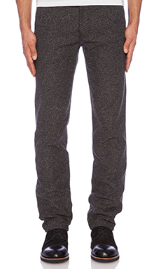 United Stock Dry Goods Chino in Charcoal Herringbone