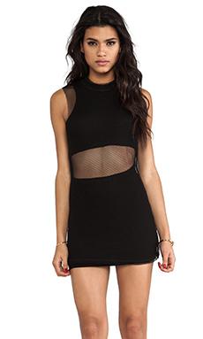 UNIF Mesh Overlay Dress in Black