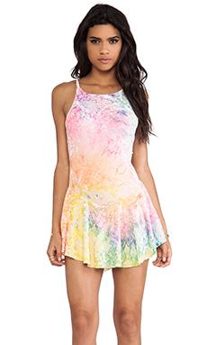 UNIF Velvet Tank Dress in Tie Dye