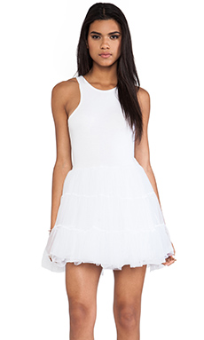 UNIF Frill Dress in White