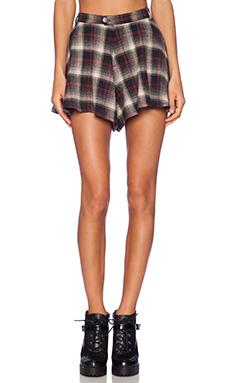UNIF TY Skort in Red Plaid
