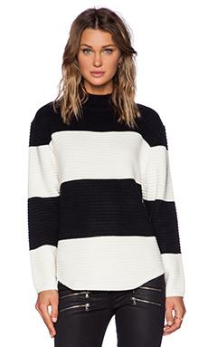 UNIF Bobbie Sweater in Black & White Stripe