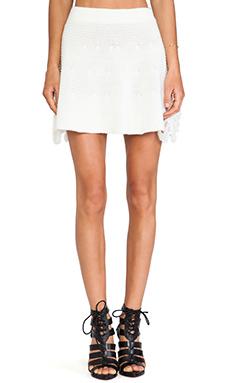 UNIF Hardy Mini Skirt in White