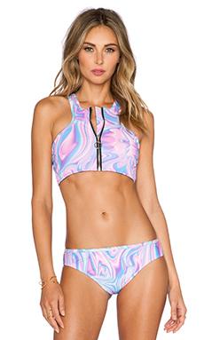 UNIF Banda Bikini Top in Pink Melt