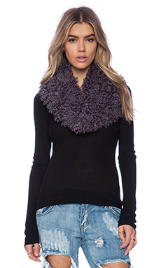 Unreal Fur the Halo Snood in Charcoal