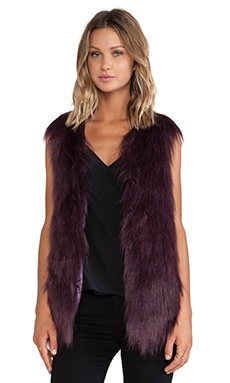 Unreal Fur Fur Play Vest in Wine