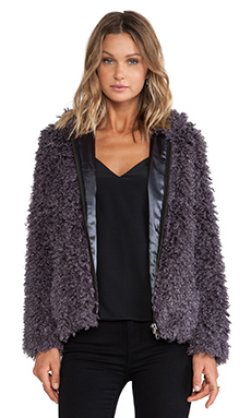 Unreal Fur Moon-Child Jacket in Charcoal