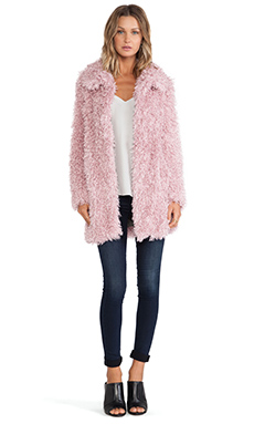 Unreal Fur De-Fur Coat in Dusty Pink