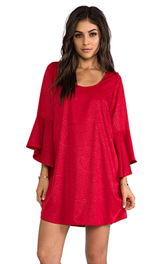 VAVA by Joy Han Holly Bell Sleeve Dress in Red