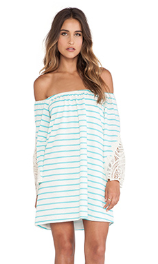 VAVA by Joy Han Meredith Off Shoulder Dress in Aqua