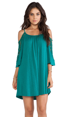 VAVA by Joy Han Julianna Bell Sleeve Dress in Green