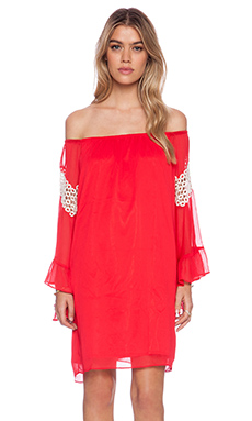 VAVA by Joy Han Abby Off Shoulder Dress in Red