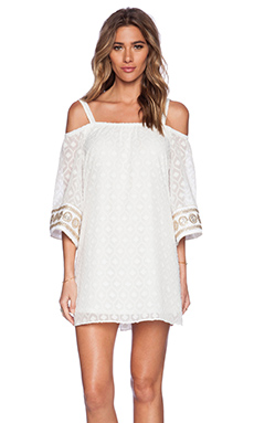 VAVA by Joy Han Irina Open Shoulder Dress in White