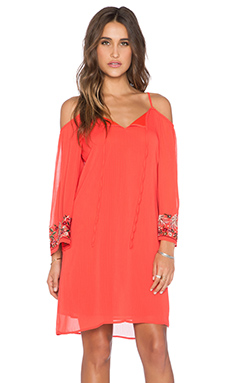 VAVA by Joy Han Viola Open Shoulder Dress in Orange