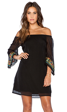VAVA by Joy Han Shirley Off Shoulder Dress in Black