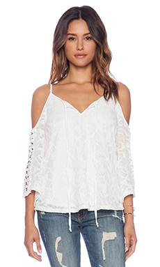 VAVA by Joy Han Keeley Open Shoulder Top in White