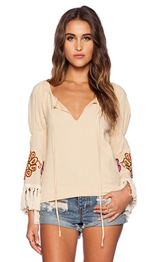 VAVA by Joy Han Meadow Top in Yellow