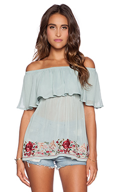 VAVA by Joy Han Viola Off Shoulder Top in Mint