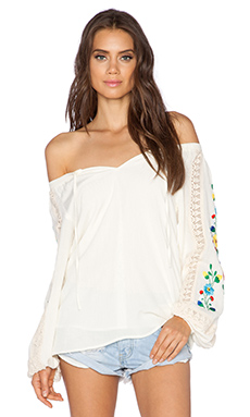 VAVA by Joy Han Lara Long Sleeve Top in White