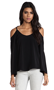 VAVA by Joy Han Keisha Open Shoulder Top in Black