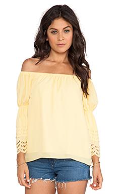 VAVA by Joy Han Celeste Off Shoulder Top in Yellow