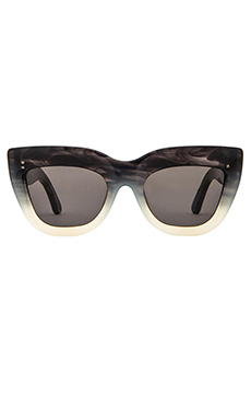 VALLEY EYEWEAR Marmont in Coal Black W/ White Fade Frame & Black Lens
