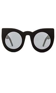 VALLEY EYEWEAR Wolves in Matte Black & Mirror Lens