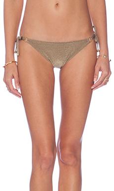 vitamin A Celebrity String Bikini Bottom in Bronze Metallic