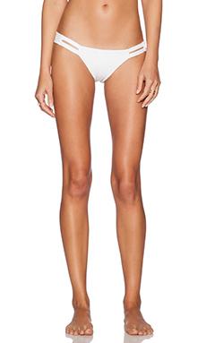 vitamin A Neutra Hipster Bikini Bottom in White Mesh Esperanza