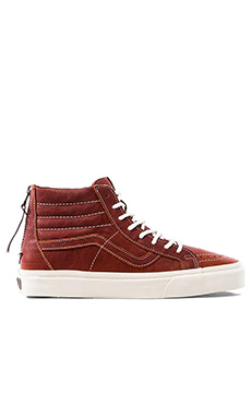 Vans California SK8 Hi Zip in Boot Leather Henna