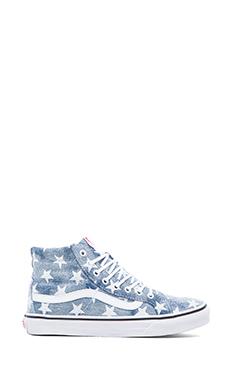 Vans SK8-Hi Slim Sneaker in Stars & Blue