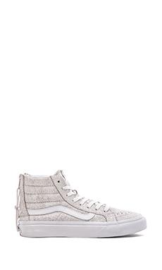 Vans SK8-Hi Slim Zip Sneaker in White