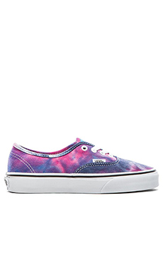 Vans Authentic Tie Dye Sneaker in Pink & Blue