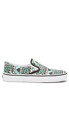 Vans Classic Geo Slip On Sneaker in Black & Scuba