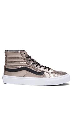 Vans SK8-Hi Slim Metallic Sneaker in Bronze & Black