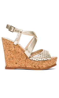 Vince Camuto Ilario Wedge in Light Gold & Neutral