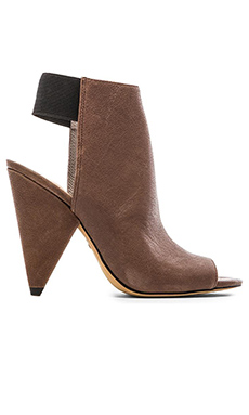 Vince Camuto Cam Heel in Smoke Taupe & Black