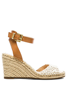 Vince Camuto Tagger Wedge in Natural Lace