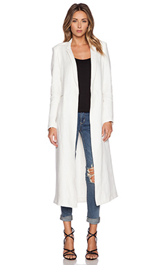 VEDA Dustin Linen Jacket in White