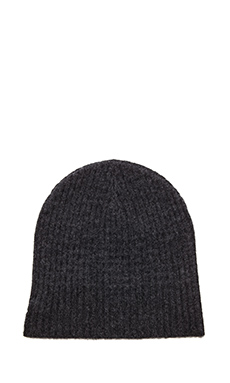 Velvet by Graham & Spencer Bishop Cashmere Beanie in Charcoal