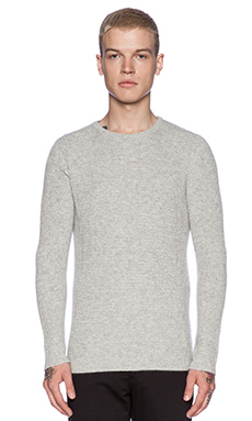 Velvet by Graham & Spencer 100% Cashmere Kingsley Sweater in Heather