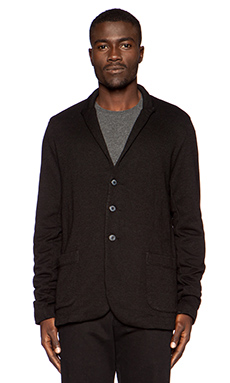Velvet by Graham & Spencer French Terry Carlo Blazer in Black